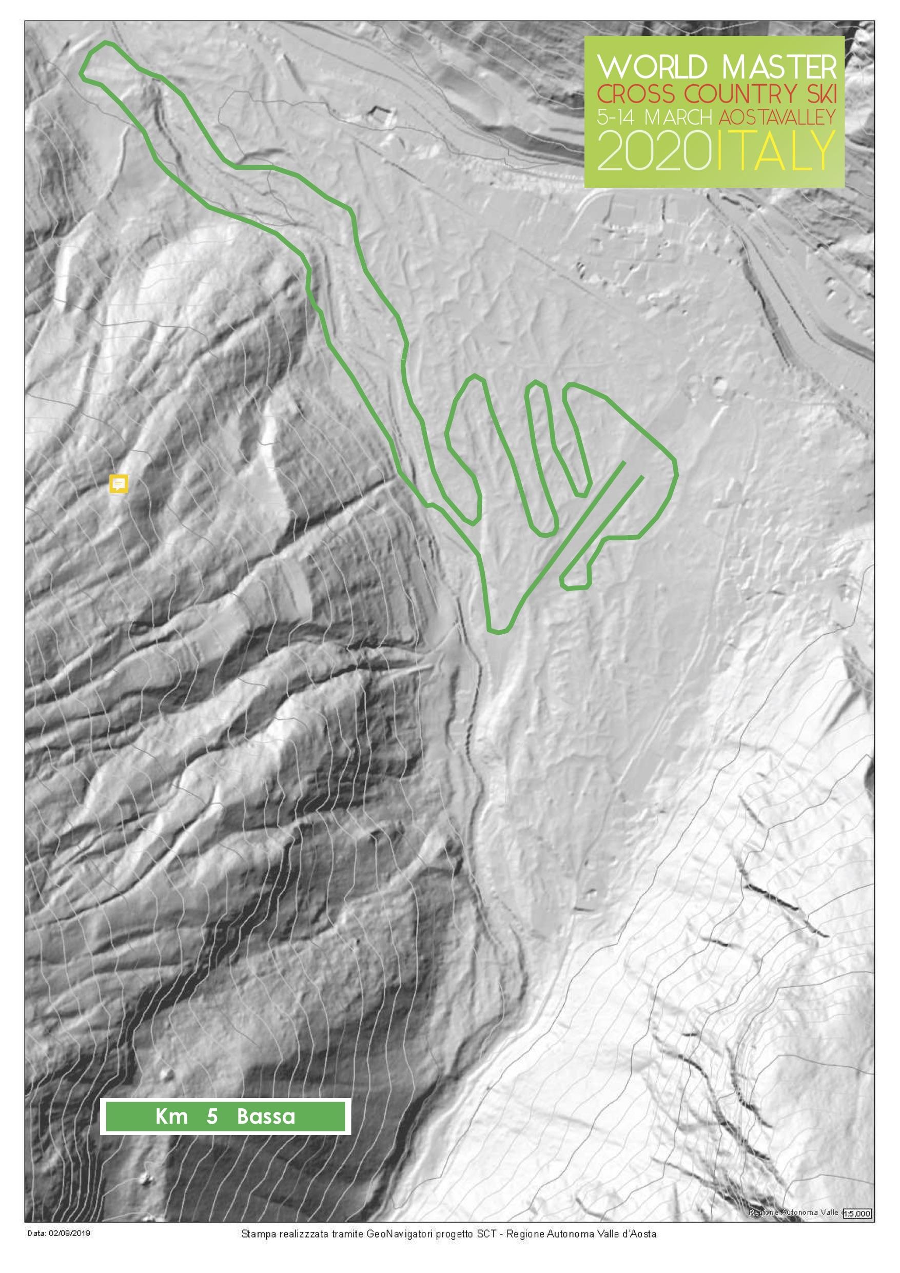 Master World Cup 5km low track ski